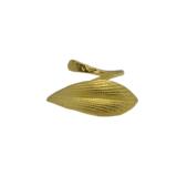 Δαχτυλίδι σε σχήμα φύλλου από Επιχρυσωμένο & Επιροδιωμένο Μπρούντζο