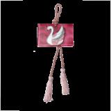 Γούρι γυάλινο ''Κύκνος'' ροζ 9χ13,5