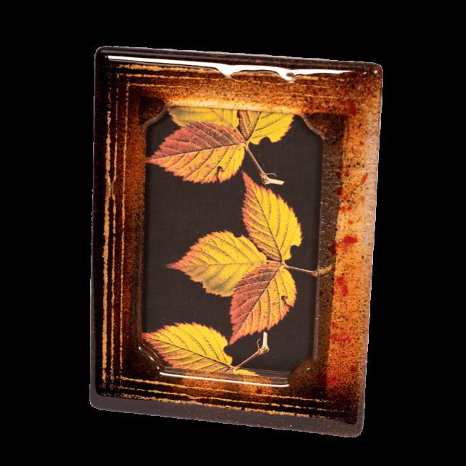 Κορνίζα γυάλινη 22χ18 Ίριδα κόκκινο