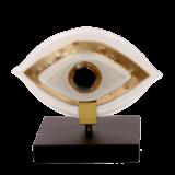 Μάτι γυάλινο 12χ14 MSMG13 λευκό σε ξύλινη βάση