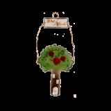 Γούρι δέντρο γυάλινο 29χ14 ''όλα ρόδινα''