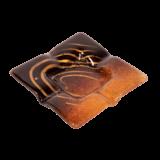 Τασάκι γυάλινο 12,5χ12,5 Ίριδα κόκκινο