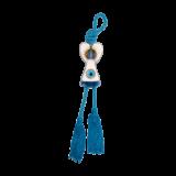 Άγγελος κρεμαστό γυάλινο 10,5χ5,5 γαλάζιο