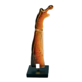 Άγαλμα γυάλινο 26εκ.Ίριδα κόκκινο-ξύλινη βάση