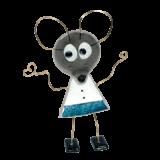 Ποντικάκι γυάλινο 22χ13 γαλάζιο