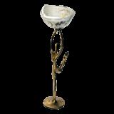 Κηροπήγιο μπρούτζινο γυναικεία μορφή 29χ9 χρυσή σπείρα λευκό