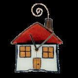 Ρολόϊ γυάλινο επιτοίχιο σπίτι 14,5χ15 σειρά πολιτεία