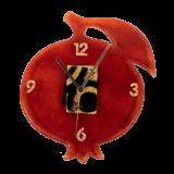Ρολοϊ γυάλινο 25Φ ρόδι επιτοίχιο κόκκινο