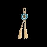 Γούρι μάτι γυάλινο MAAG 6Φ γαλάζιο