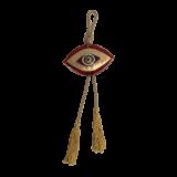 Γούρι γυάλινο μάτι MSMG13 κόκκινο 12χ14