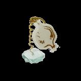 Ρόδι γυάλινο spiral 13χ8,5 λευκό