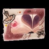 Κορνίζα γυάλινη ''Φόρεμα μπαλαρίνας'' ροζ  13χ18