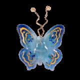 Γυάλινη πεταλούδα 10χ9 Ίριδα γαλάζιο επιτοίχια