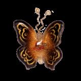 Γυάλινη πεταλούδα 10χ9 Ίριδα κόκκινο επιτοίχια