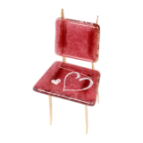 Γυάλινη καρέκλα 10χ5,5