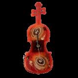 Ρολόϊ βιολί γυάλινο 33χ12 χρυσή σπείρα κόκκινο επιτοίχιο